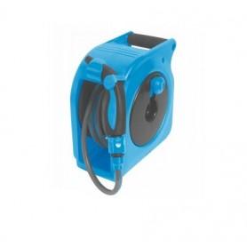 Mini enrollador con pistola manual 10 metros azul