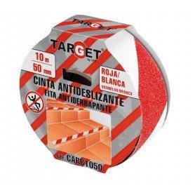 Cinta adhesiva antideslizante blanco-rojo target