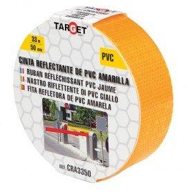 Cinta adhesiva reflectante PVC amarilla