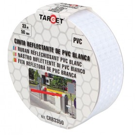 Cinta adhesiva reflectante PVC blanca
