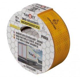 Cinta reflectante PMMA certificada para camiones amarilla