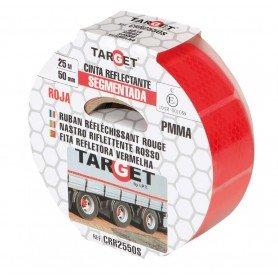 Cinta adhesiva reflectante PMMA roja segmentada certificación ECE-104