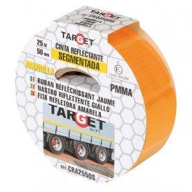 Cinta adhesiva reflectante PMMA amarilla segmentada certificación ECE-104