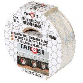 Cinta adhesiva reflectante PMMA blanca segmentada certificación ECE-104