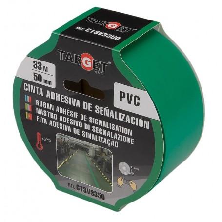 Cinta adhesiva de señalización verde