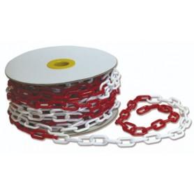 Cadena de plástico para señalizar Gayner blanco-rojo