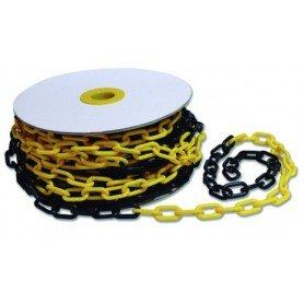 Cadena de plástico para señalizar Gayner amarillo-negro