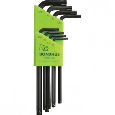 Set 8 llaves TORX Prohold largas Bondhus