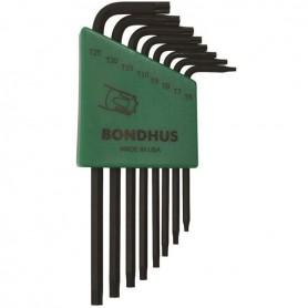 Set 8 llaves TORX inviolable largas Bondhus TR6-TR25