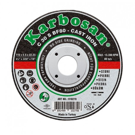 Disco de corte Karbosan fundición y hormigón
