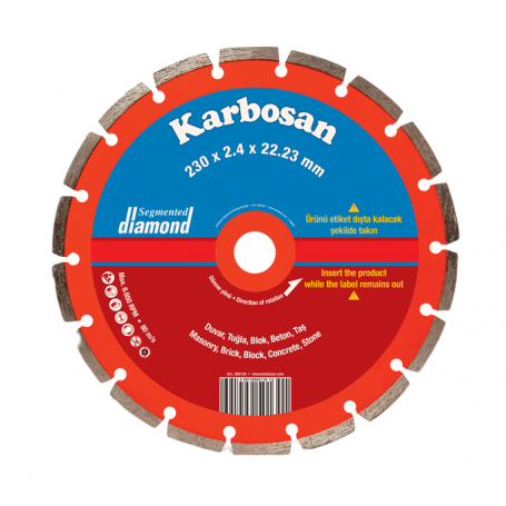 Disco de corte Karbosan diamante segmentado