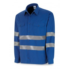 Camisa Marca manga larga azulina con bandas reflectante 388