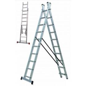Escalera transformable aluminio doble TR2