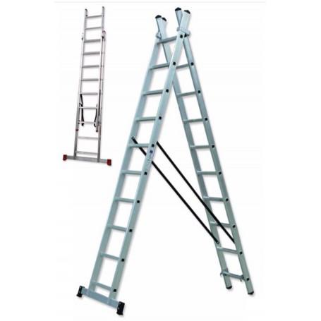 Escalera transformable aluminio doble Scal