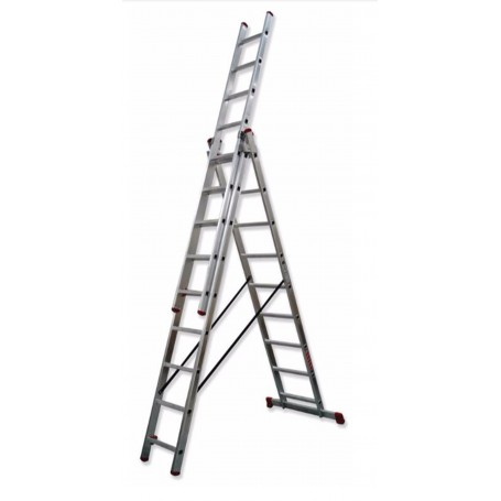 Escalera scal transformable triple aluminio tr3 for Oferta escalera aluminio