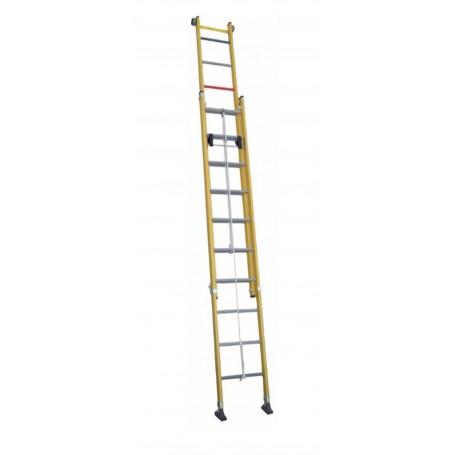 Escalera scal doble de extensi n a cuerda todo fibra trf2c - Escalera de cuerda ...