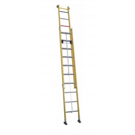 Escalera doble extensión cuerda fibra Scal