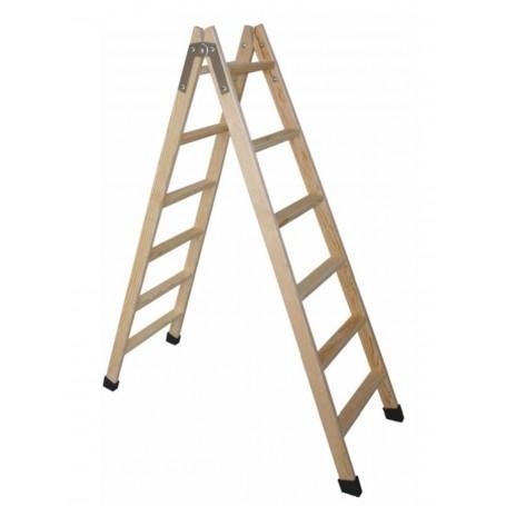 Escalera tijera doble acceso madera TM-DA