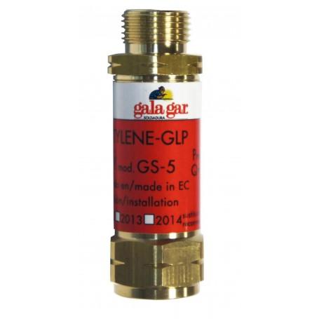 Válvula de seguridad soplete Galagar acetileno