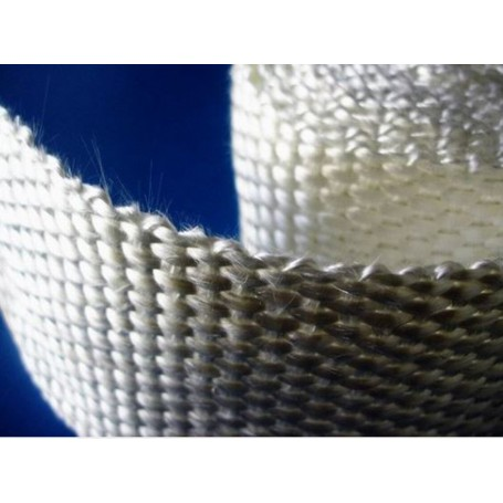 Cinta de fibra de vidrio con adhesivo
