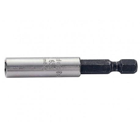 """Adaptador puntas universal 1/4"""" 60mm magnético con anillo Bahco"""
