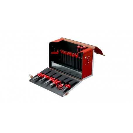 Maleta cuero Bahco electricista protección 1000V 19 piezas