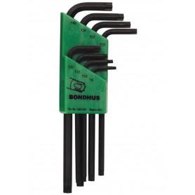 Set 8 llaves TORX inviolable largas Bondhus TR9-TR40
