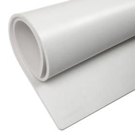 Plancha de silicona blanca