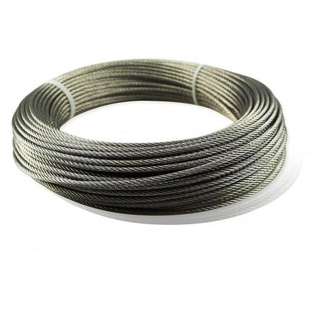 Rollo de cable Gayner acero inoxidable 7x7+0 AISI-316