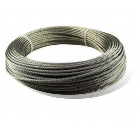 Rollo de cable Gayner acero inoxidable 7x19+0 AISI-316