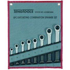 Juego de llaves combinadas con carraca 8 piezas TengTools