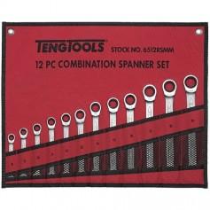 Juego de llaves combinadas con carraca 12 piezas TengTools