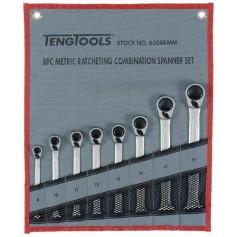 Juego de llaves combinadas con carraca reversible 8 piezas TengTools