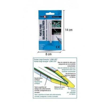 Punta 2,5 recambio soldador de lápiz para electrónica 25W