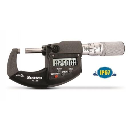 Micrómetro de exteriores Starrett 795 digital IP67 con salida de datos