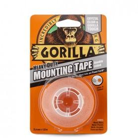 Cinta adhesiva doble cara transparante Gorilla