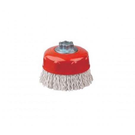 Cepillo taza alambre ondulado plastificado Jaz