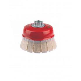Cepillo taza Jaz con guarda protectora ondulado grueso alambre 0,30mm