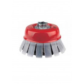 Cepillo taza Jaz con guarda protectora trenzado grueso alambre 0,50mm
