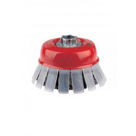 Cepillo taza con guarda protectora trenzado Jaz 0.50mm