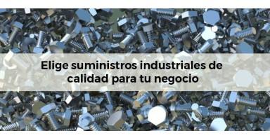 Elige suministros industriales de calidad para tu negocio