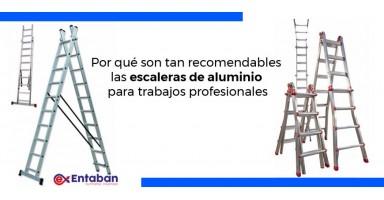 Por qué son tan recomendables las escaleras de aluminio para trabajos profesionales